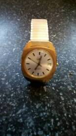 Very rare 26 jewels Limit Incabloc automatic watch gold plated