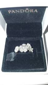 Pandora shimmering bouquet ring size 54