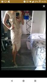 Ladies 1920 flapper dress size 8 and matching shoes size 5 only worn once