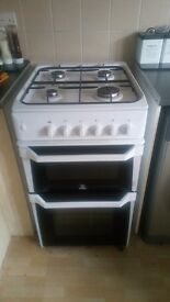 White Indesit cooker