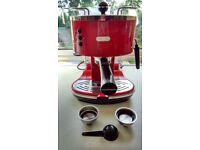 Delonghi Icona Espresso Machine - Scarlet Red