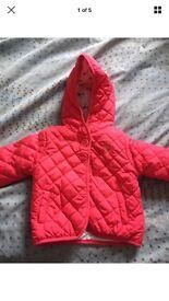 John Lewis 9-12 Month Girls coat