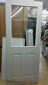 """Internal door half glass 32.5""""x80"""""""