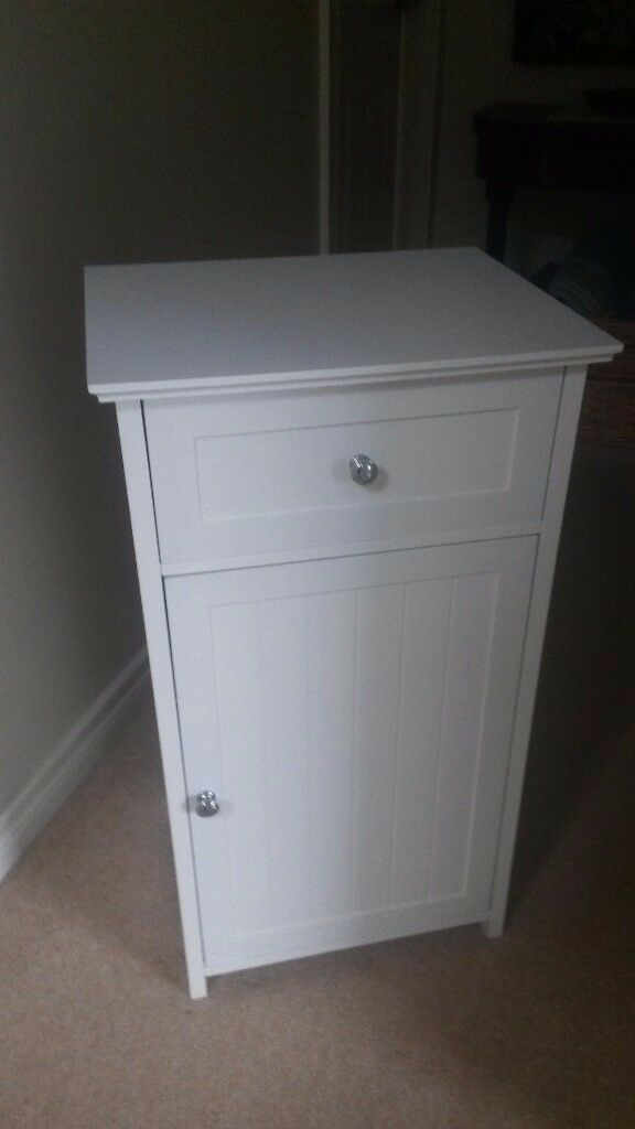 White bathroom cabinet