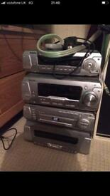 Technics cd/dvd player with surround sound