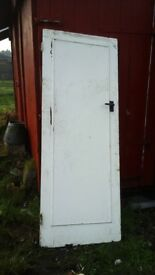 A SELECTION OF WOOD DOORS