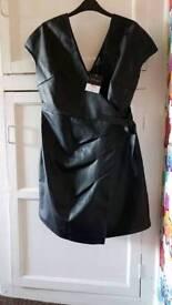 topshop wrap dress size 12