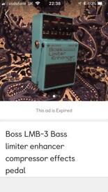 Boss LMB—3 Bass Limiter enhancer effects pedal