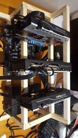 3 GPU Mining Rig - RX 580 Nitro 8GB