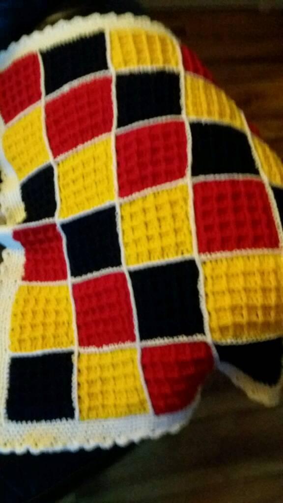 New hand crocheted pram blanket