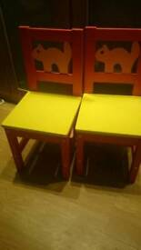 Ikea children's solid wooden chairs