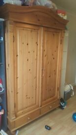 REDUCED - Pine Wardrobe - solid wood - top quality bedroom suite furniture