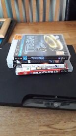 Ps3 for sale 1 pad 4 games 250gb!