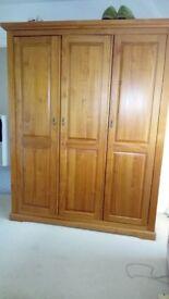 Solid wood 3 door wardrobe
