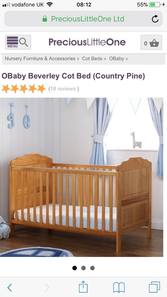 O baby cot bed & mattress-free to a good home