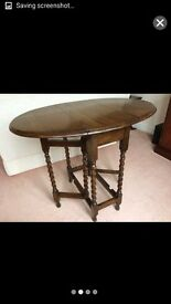 Oak antique gate leg table