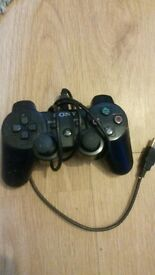 ps3 controller plus wire.