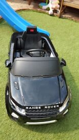 Range Rover Evoque Licensed 12v Electric Ride on Car - Black