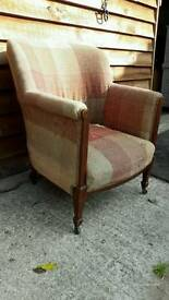 Antique hourse hair nursing chair