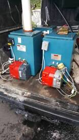 Oil fired boilers and burners supply and fit all in vgc with warranty £380