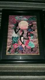 Two Large Framed African Prints