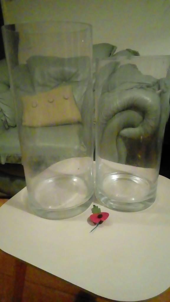 Large glass vases
