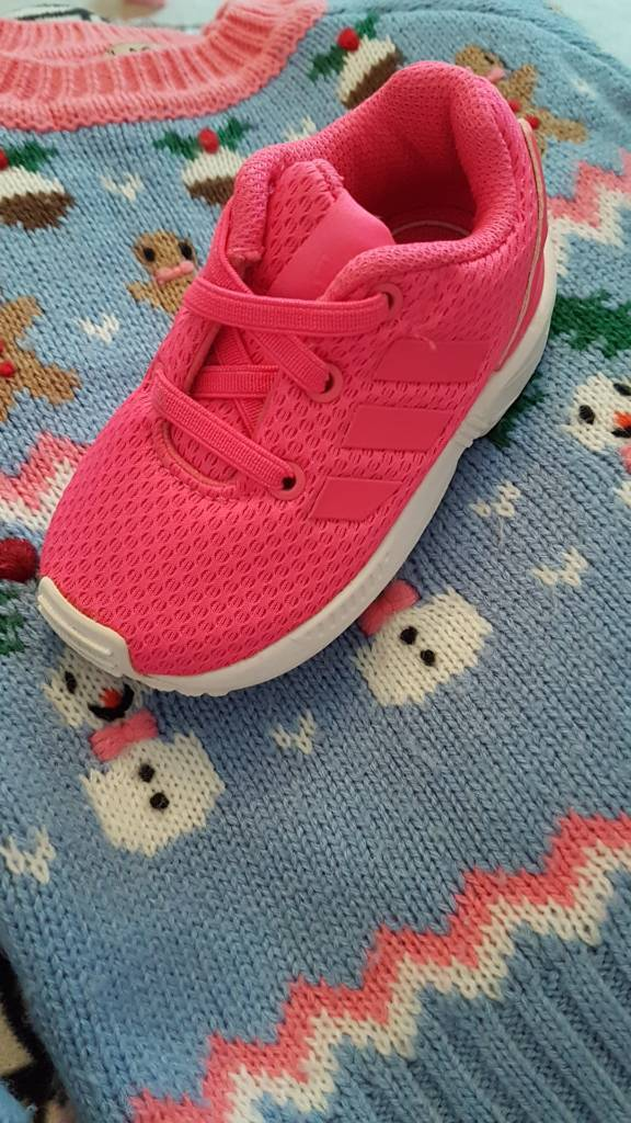 Adidas Pink Baby Trainers Size 4