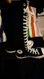 Converse lace up knee shoes