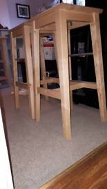 Ikea solid birch bar stools