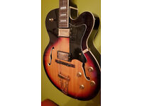 *SOLD PENDING COLLECTION* Chord hollow body archtop semi acoustic guitar may swap / trade
