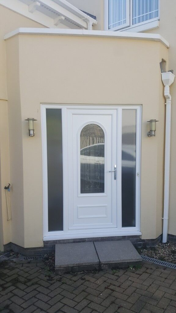 Upvc Front Door With Glass Sidelights In St Austell Cornwall