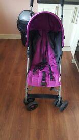 Mamas & papas purple pushchair