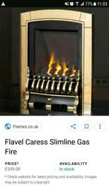 New gas fire boxed rrp £330