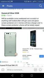 Huawei p9 Phone 32GB Silver