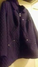 Ladies purple barbour coat from evans size 26/28 ans brand new