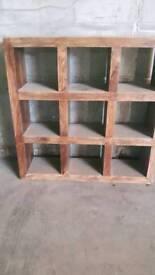 Burmese oak slight warn book or storage