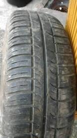 175/70R13 82T tyre on steel wheel.108pcd.
