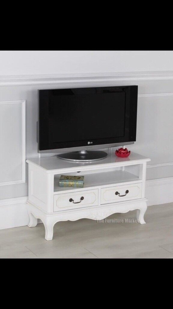 White French chateau small tv stand