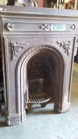 Beautiful Victorian fire surround with grate