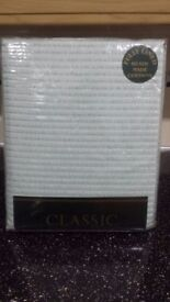 """Classic collection fully lined curtains 46""""x 90 """". Brand new never been used. Colour baby blue."""