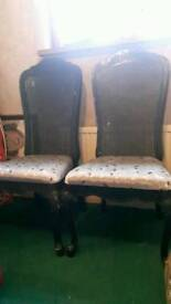 2 dining/occassional chairs