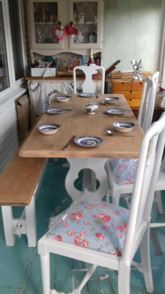 4 shabby chic very elegant and sturdy chairs
