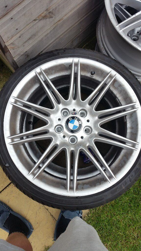 4 X BMW 3 series alloys 19inch (one alloy has a crack on the inside rim) **freshly refurbished **