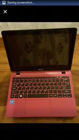 Like new acer touchscreen laptop/hot pink