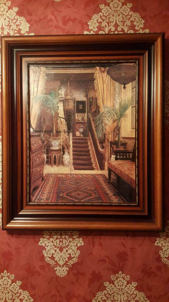 Beautiful large frame reproduction of The Hall Way by Jessica Hayllar