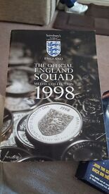 The offical england 1998 squad medal collection