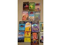 Collection of Frank Herbert SciFi books including Dune