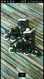 Roller blades (with safety gear)