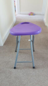 Stool - for small child or for feeding a small child - collapsible