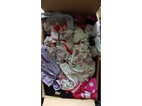 Box of baby girls clothes 12 to 18 months full